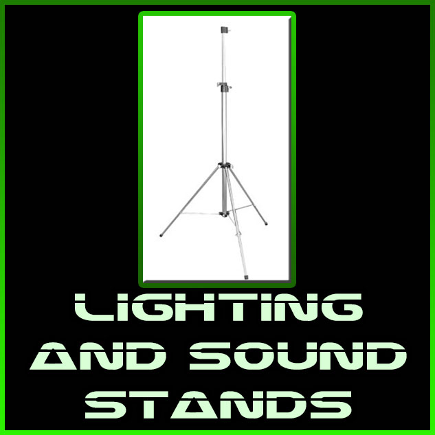 lighting and sound stands